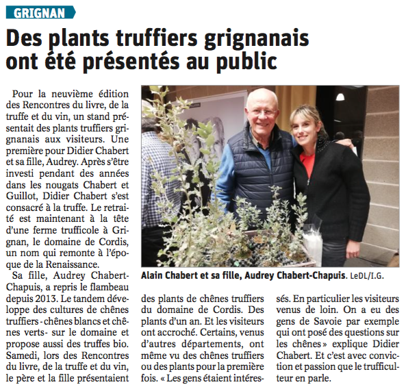 Article Rencontres 2019